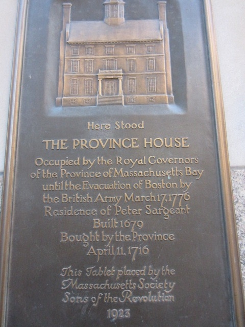 Here Stood The Province House