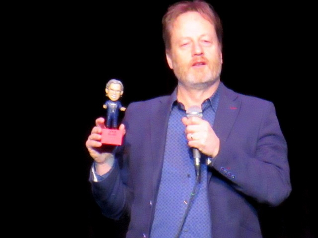 Jeff introducing the Bobblehead